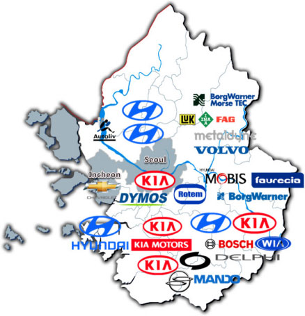 Current status of Samsung Group & its partners in Gyeonggi-do